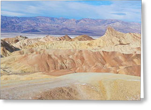 Zabriski Point Panoramic Greeting Card