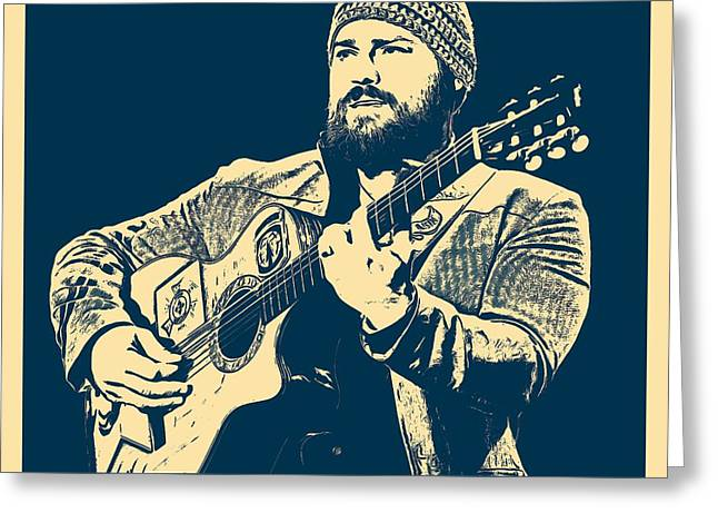 Zac Brown Band Poster Greeting Card by Dan Sproul