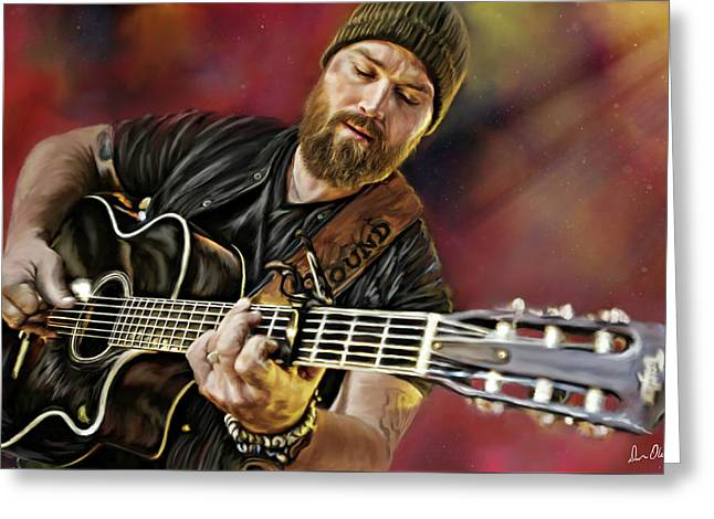 Zac Brown Greeting Card