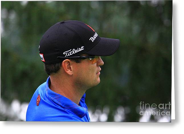 Zach Johnson Pga Professional Golfer Greeting Card by Douglas Sacha