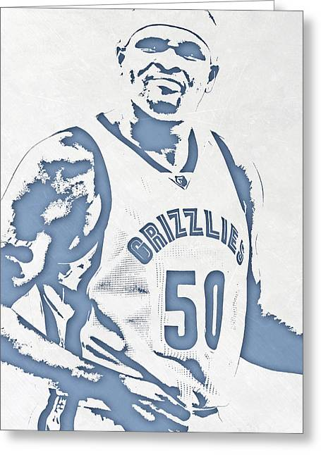Zach Randolph Memphis Grizzlies Pixel Art Greeting Card
