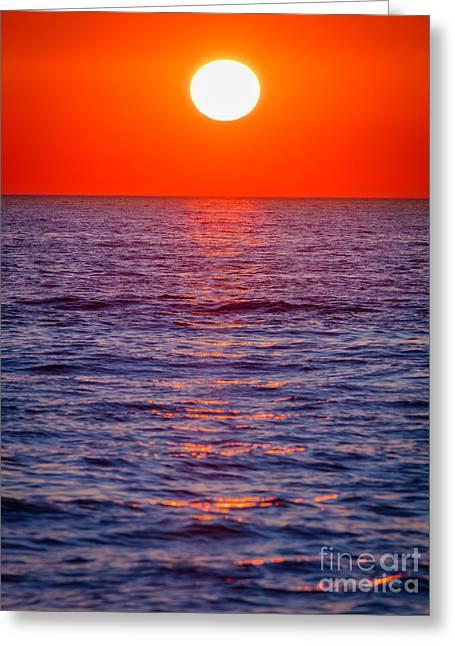 Zadar Sunset Greeting Card by Inge Johnsson