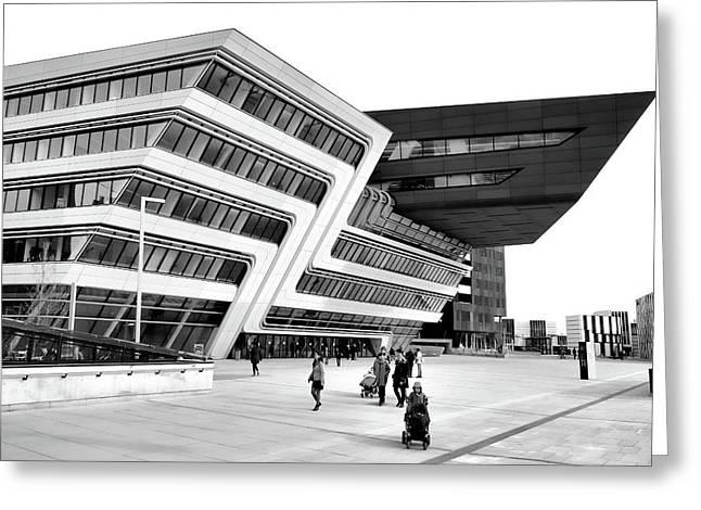 Zaha Hadid Library Center Wu Campus Vienna Greeting Card