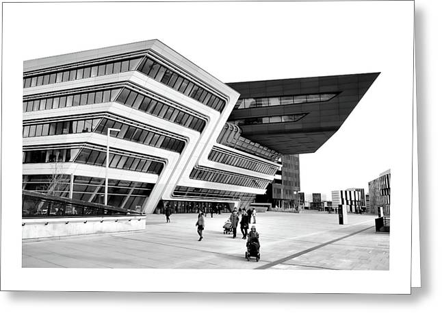 Zaha Hadid Library Center Wu Campus Vienna Greeting Card