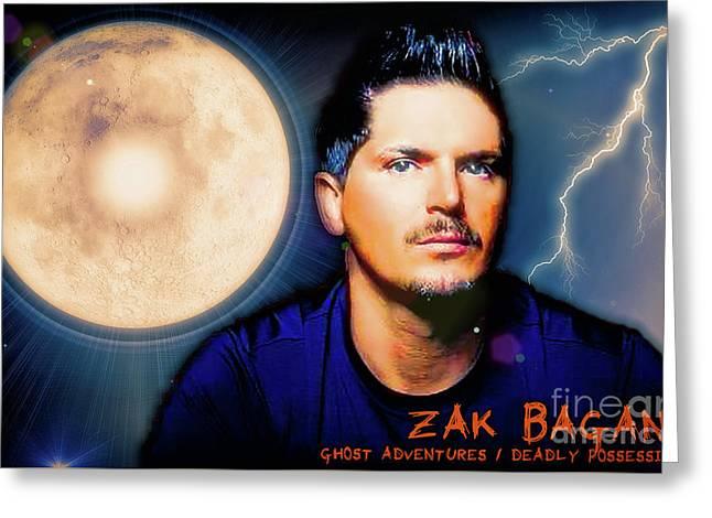 Zak Bagans - The Man Greeting Card by Robert Radmore