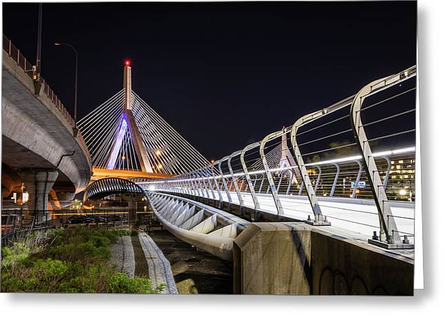 Zakim Bridge Walkway Greeting Card