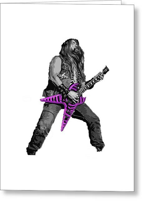 Zakk Guitarist Greeting Card by Andrea Mazzocchetti
