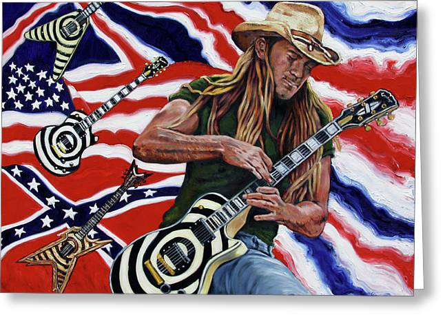 Zakk Wylde Greeting Card by John Lautermilch