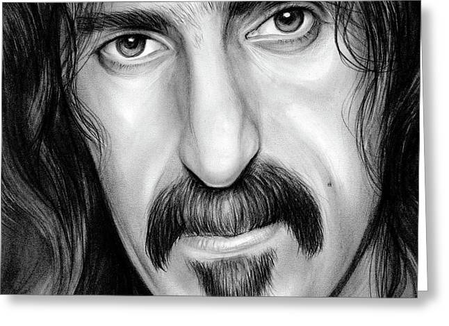Zappa Greeting Card by Greg Joens