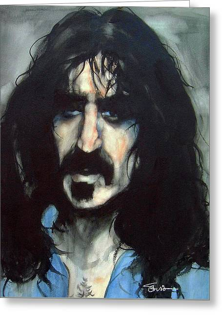 Zappa Greeting Card by Savio Mizzi