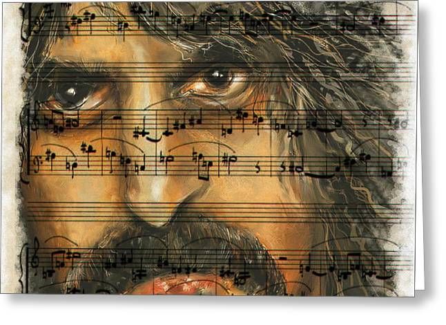 Zappa Sheet Music Greeting Card
