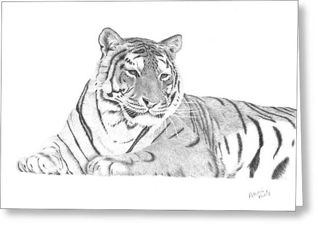 Zarina A Siberian Tiger Greeting Card by Patricia Hiltz