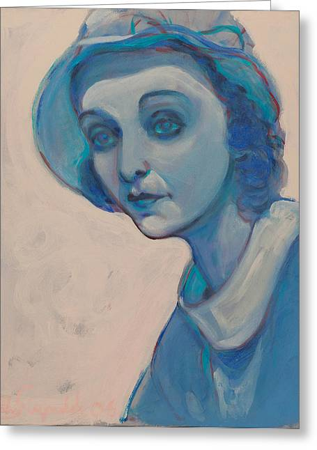Zasu In Blue Greeting Card