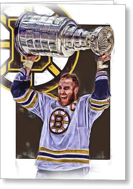 Zdeno Chara Boston Bruins Oil Art Greeting Card