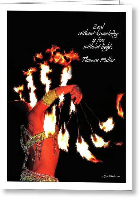 Zeal Quote Greeting Card
