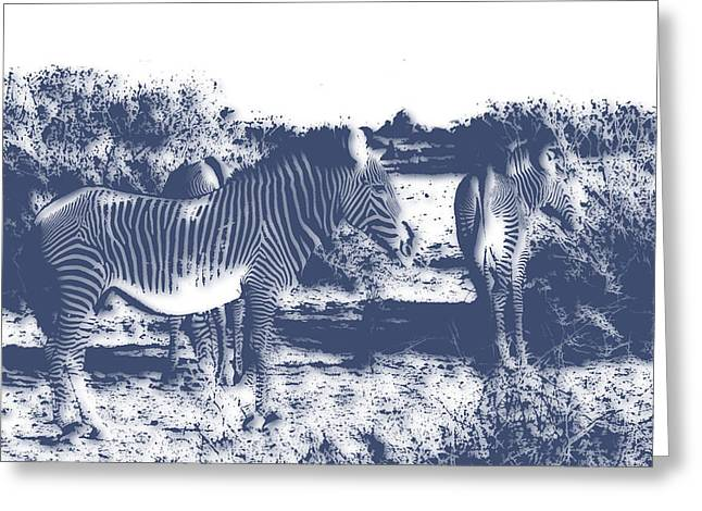 Zebra 4 Greeting Card