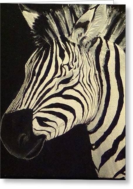 Zebra  Greeting Card by Annelisa Fischer