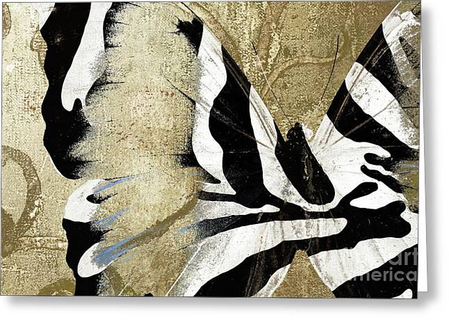 Zebra Butterfly Greeting Card by Mindy Sommers