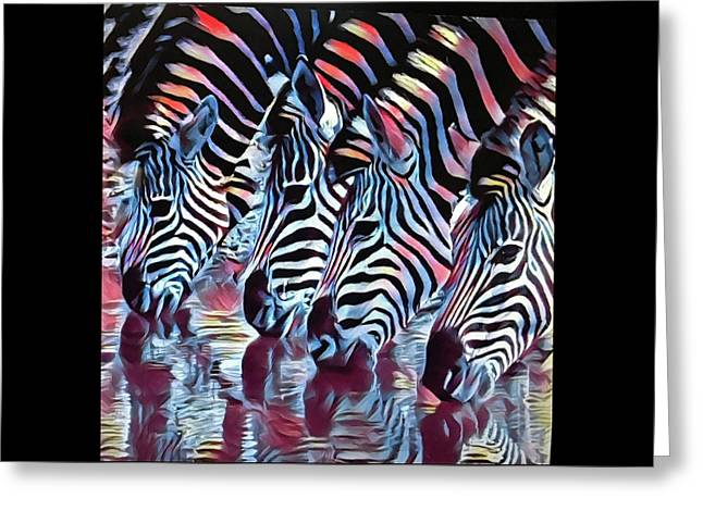 Zebra Dazzle Greeting Card