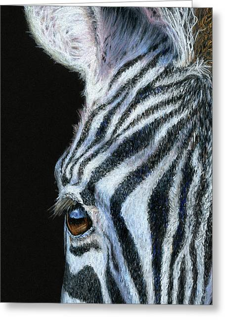 Zebra Detail Greeting Card by Sarah Batalka