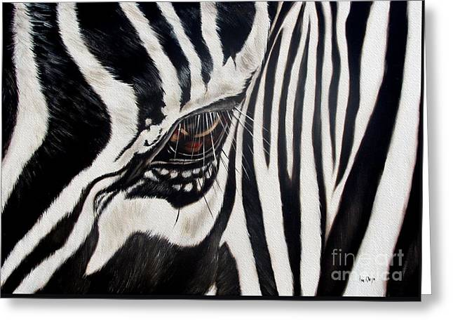 Zebra Eye Greeting Card