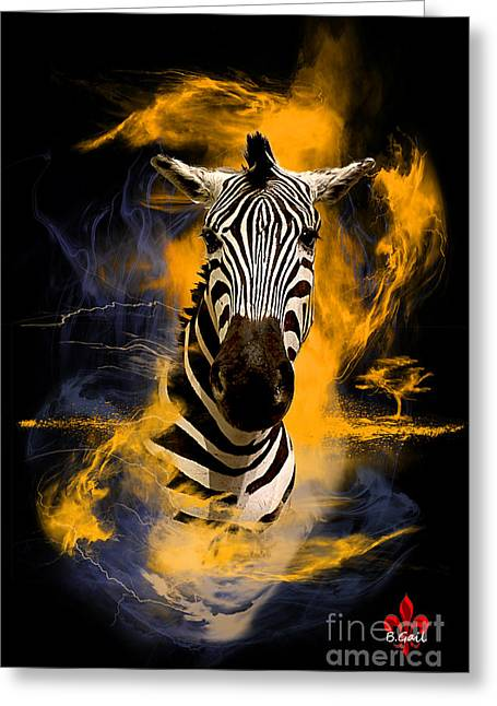 Zebra In Africa Greeting Card