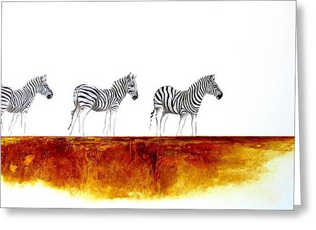 Zebra Landscape - Original Artwork Greeting Card