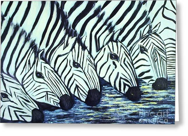 Zebra Line Greeting Card