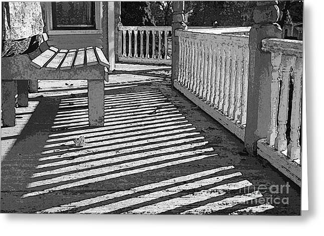 Greeting Card featuring the photograph Zebra Porch by Betsy Zimmerli