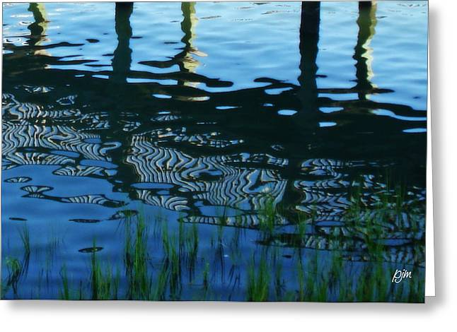 Greeting Card featuring the photograph Zebra Reflections by Phil Mancuso