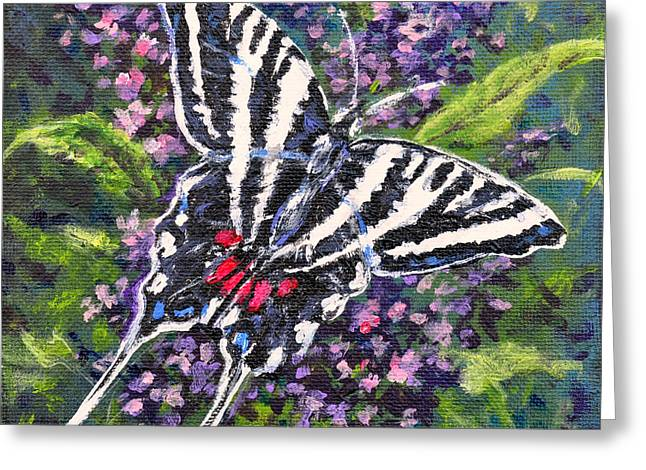 Zebra Swallowtail Greeting Card by Gail Butler