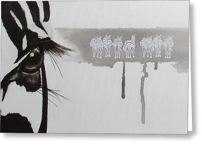 Zebra Tears Greeting Card