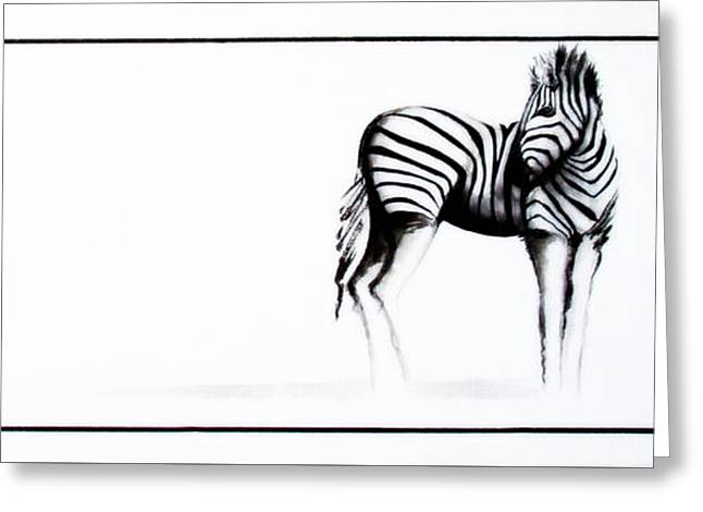 Zebra3 Greeting Card