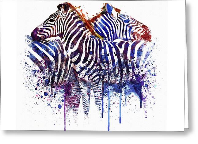 Zebras In Love Greeting Card