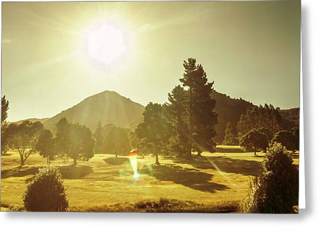 Zeehan Golf Course Greeting Card