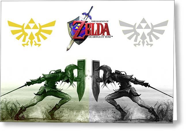 Zelda Ocarina Of Time                   Greeting Card