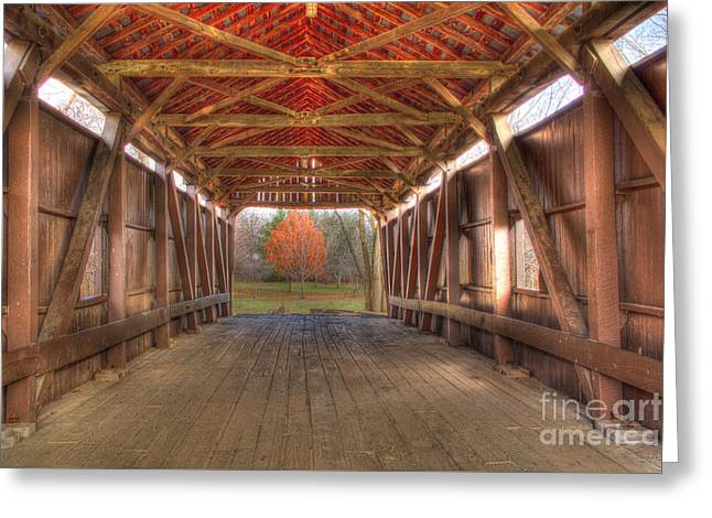 Sycamore Park Covered Bridge Greeting Card