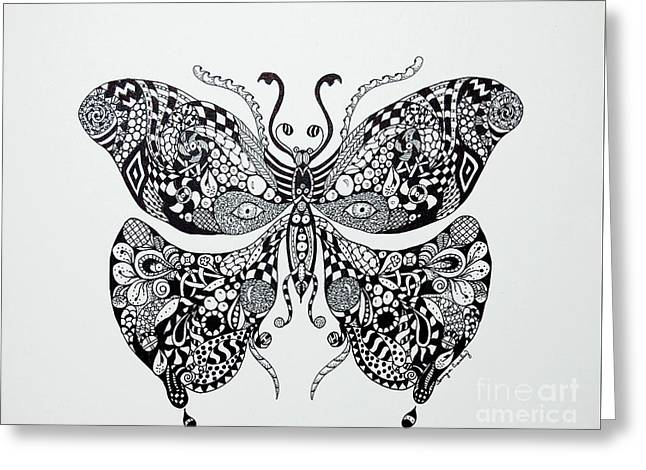 Zen Butterfly Greeting Card