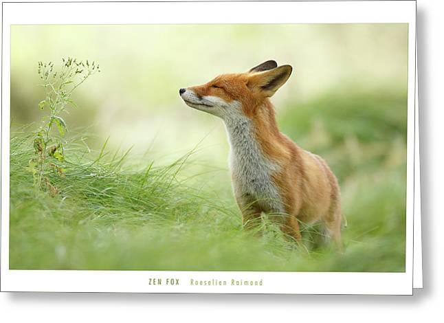 Zen Fox Roeselien Raimond Greeting Card by Roeselien Raimond