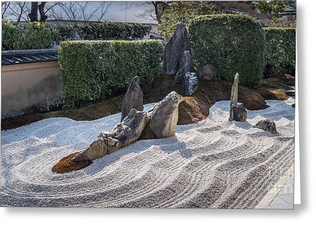 Zen Garden, Kyoto Japan 6 Greeting Card by Perry Rodriguez