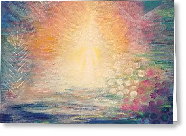 Zen Goddess Greeting Card by Alexandra Florschutz