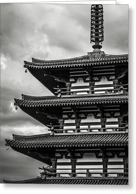 Zen In Black And White Greeting Card