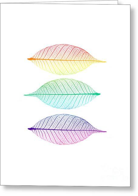 Zen Leaves Greeting Card