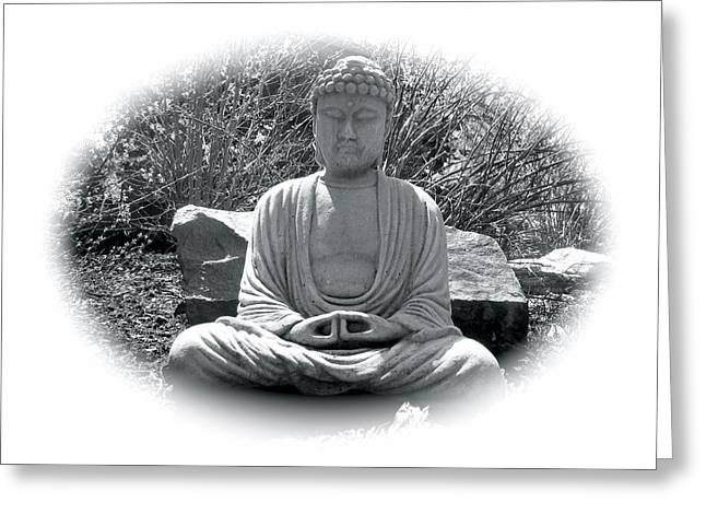 Greeting Card featuring the painting Zen by Michael Lucarelli