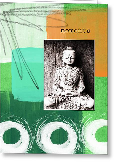 Namaste Greeting Cards - Zen Moments Greeting Card by Linda Woods