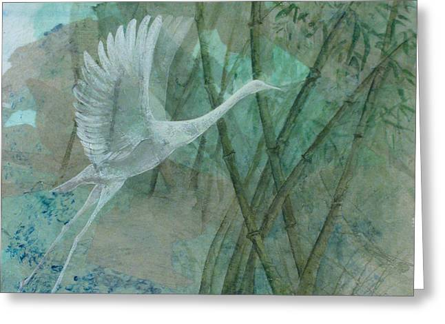 Zen Morning Greeting Card by Sandy Clift