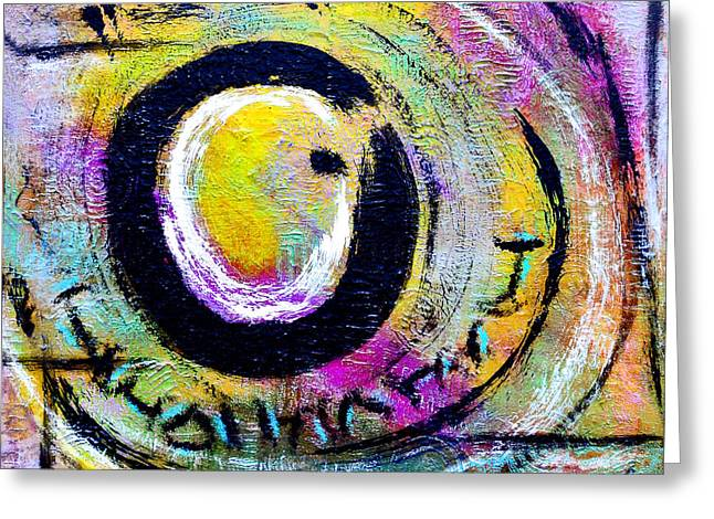 Zen Painting Greeting Card by Davids Digits