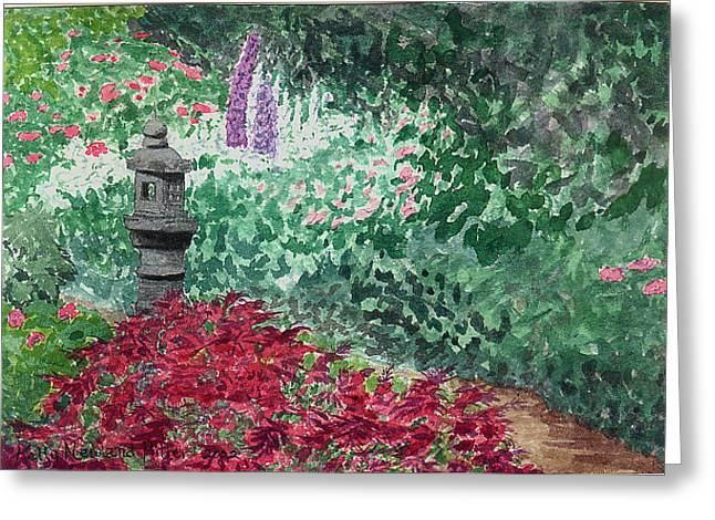 Zen Path Greeting Card by Kelly Miller