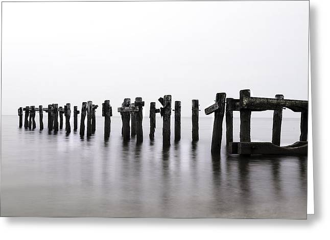 Zen Piers By Tom Schoeller - Open Edition Print Greeting Card by Thomas Schoeller
