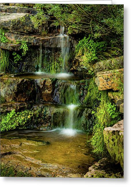 Zen Pools - Provo River Falls Greeting Card